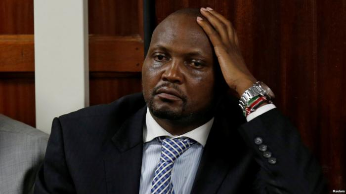 Gatundu South MP Moses Kuria in the dock during a past appearance in court