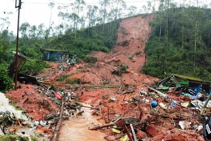 a section of West Pokot County that suffered the landslides on Saturday November 23