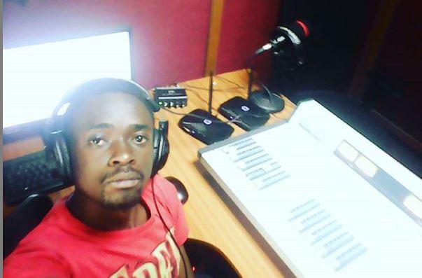Gilber Lwanzi in the studio at Vihiga FM on April 1, 2017.