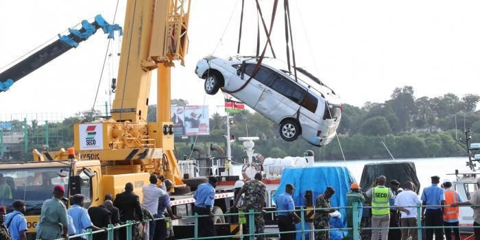 Likoni tragedy car retrieved on Friday, October 11, 2019.