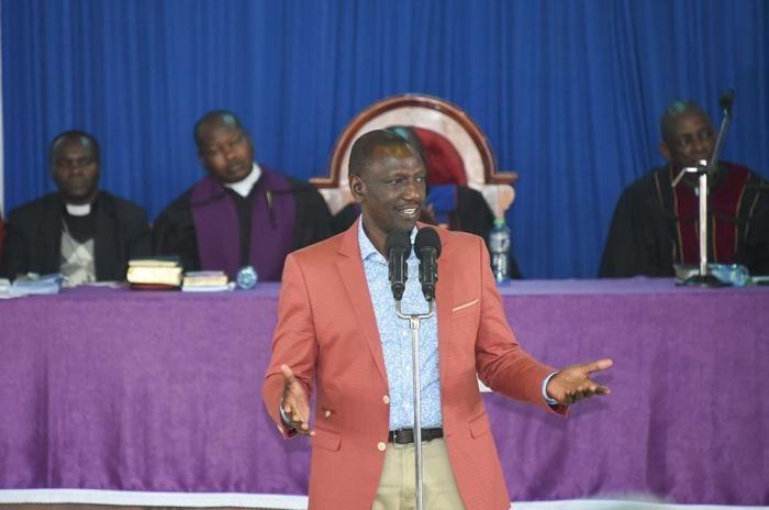 Deputy President William Ruto at PCEA Makongeni Church, Thika on November 24, 2019