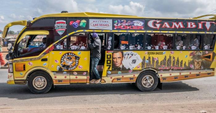 A Matatu in Nairobi. The matatu sector has been rife with insanity, with overspeeding and overlapping being among the complaints recorded.