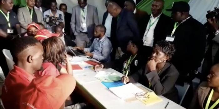 McDonaldMariga pictures at the IEBC offices on September 10, 2019. His candidature was invalidated by IEBC