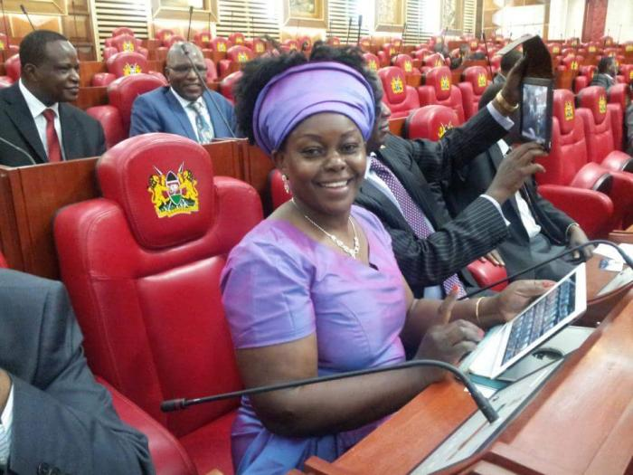Mbita MP Millie Odhiambo during a past Parliamentary proceeding.