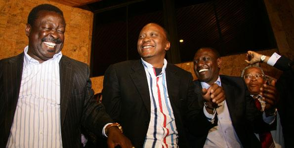 Mudavadi, Ruto and Uhuru before thye 2013 general elections.