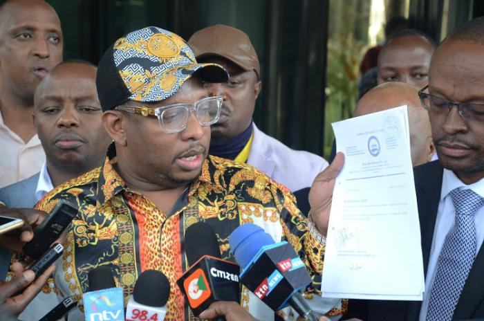 Nairobi Governor Mike Sonko at the EACC headquarters on September 3, 2019.