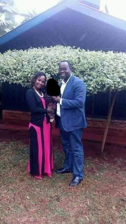 Nairobi Nominated MCA Anne Thumbi, deceased Kibra MP Ken Okoth and their son Jayden Okoth.
