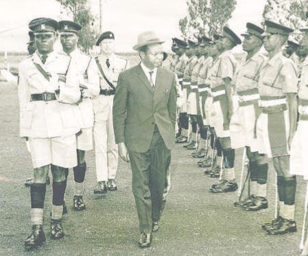 Geoffrey Kariithi curated an honorary parade organized by the administrative police, Embakasi in Nairobi, in 1971.