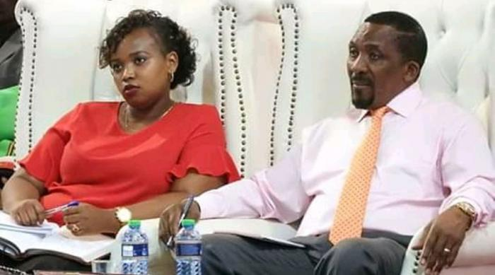 Pastor Ng'ang'a and his wife at a service