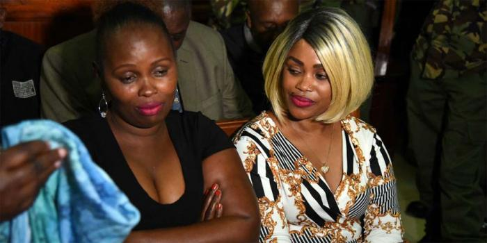 NYS suspects Anne Ngirita (right) and Phillis Ngirita in court in September 2018