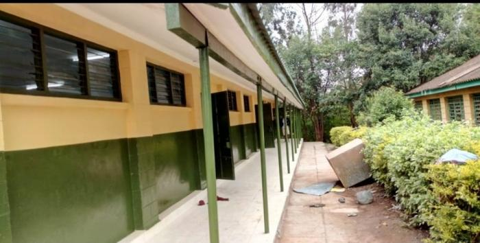A section of Ngong Forest Primary School that was to recieve pupils from Precious Talent school. It is one of the three schools CS George Magoha recommended for the transfer.