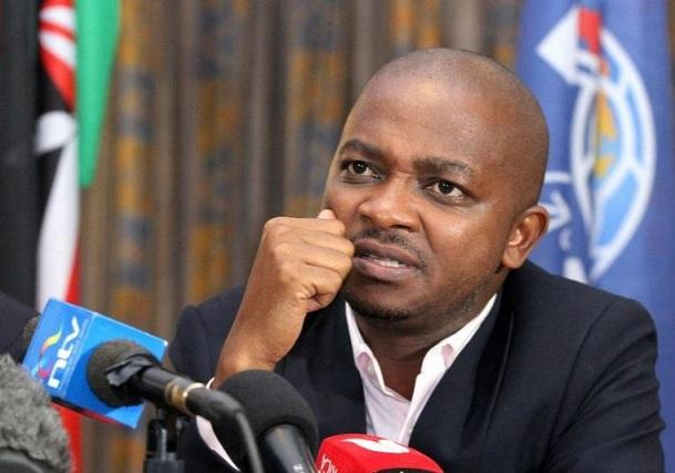 FKF chairman Nick Mwenda at a press conference in 2019