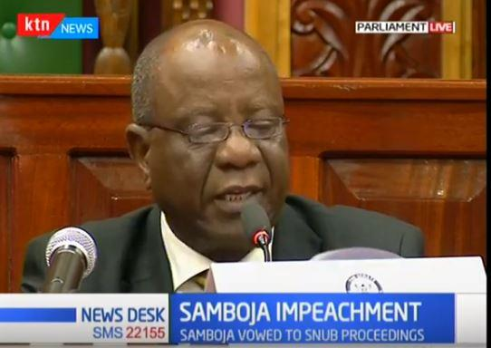 Chair of the Senate Special Committee Njeru Ndwiga on Tuesday, October 22 directed that the special proceedings in governor Grnaton Samboja's impeachment will go on as planned.