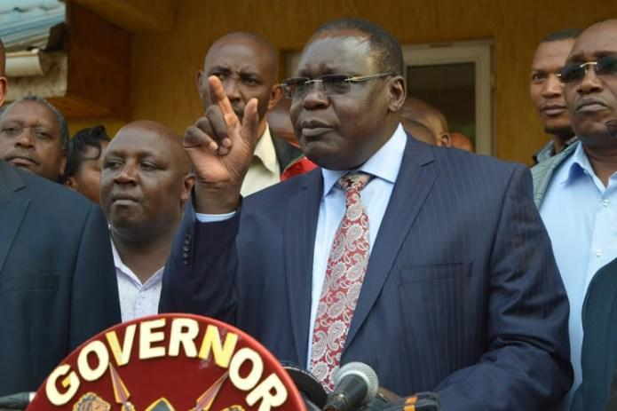 Incoming Kiambu Governor James Nyoro addresses the media at the county headquarters in on Thursday, July 30, 2020.