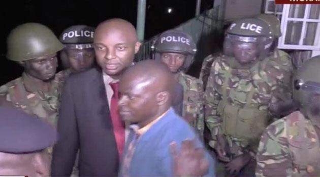 Nyoro (pictured) was arrested in Murang'a, on live television. He was apprehended over his role in the chaos witnessed at Gitui Catholic church on September 8, 2019