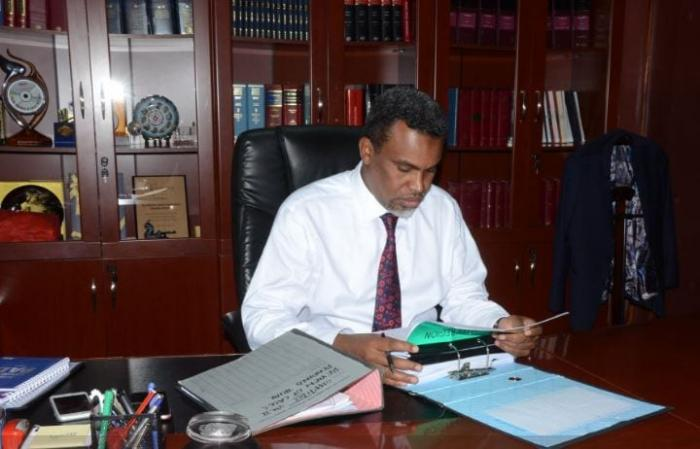 A past photo of Director of Public Prosecutions Noordin Haji at his office in Nairobi
