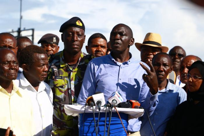Govt Spokesperson Cyrus Oguna. The retired army officer is confident that Kenya Navy can handle the search operation.