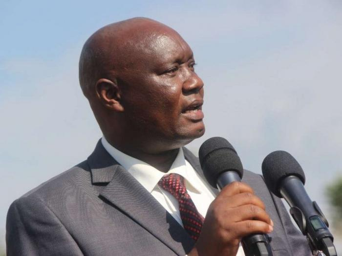 Busia Governor Sospeter Ojaamong delivering a past address
