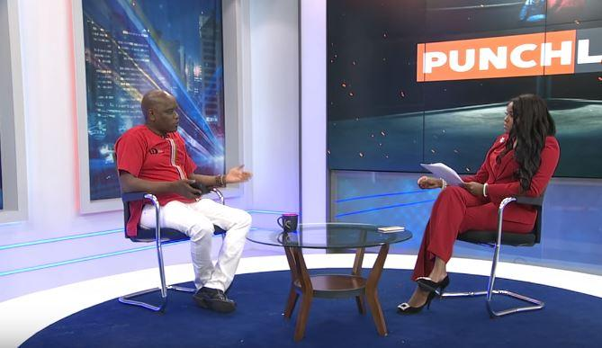 Dennis Itumbi with Anne Kiguta during the interview on Sunday, October 20.