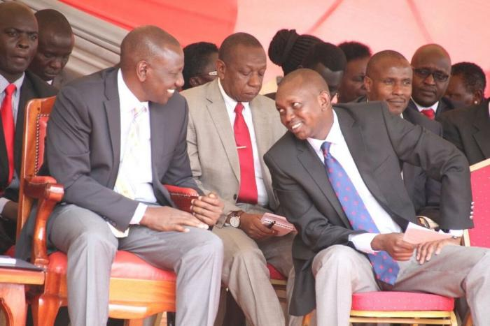 DP Ruto with Kapsaret MP at an event in 2019. Sudi is a close confidant of the DP