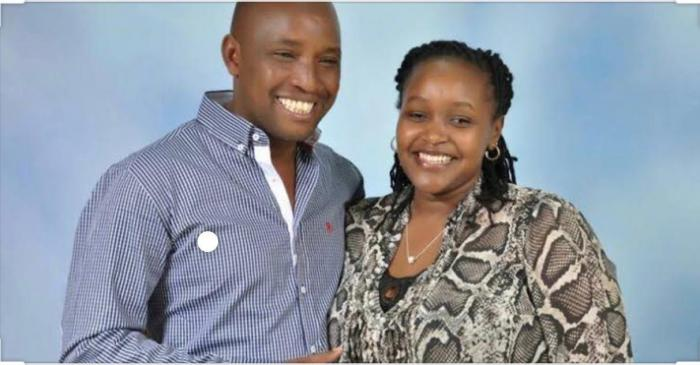 Peter Karanja and Martha Wangari in their happy days. The two filed for divorce a month before Karanja was arrested in connection to Tob Cohens murder case