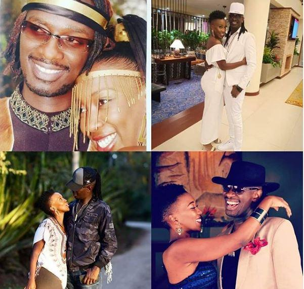 Photomontage of Nameless and Wahu over the years. The celebrity couple recently shared memories of their wedding to mark their 14-year anniversary