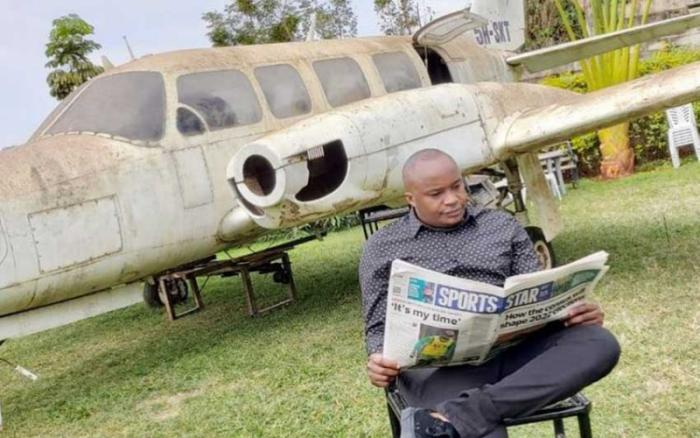 Photo of Starehe MP Charles Jaguar Kanyi. He recently acquired a second-hand plane