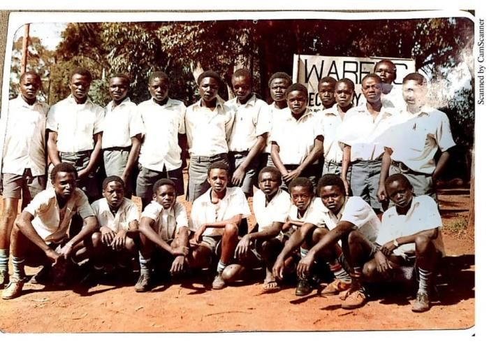 Photo showing Deputy President William Ruto (bottom 3rd from the left) during his high school days at Wareng High School