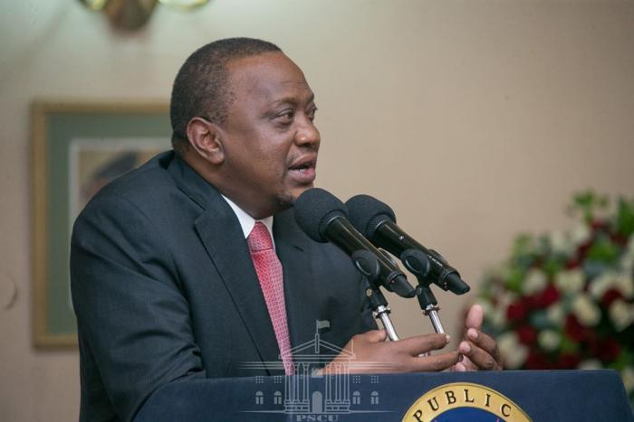 President Uhuru Kenyatta addressing the delegates at State House Nairobi after receiving the BBI report, November 26.