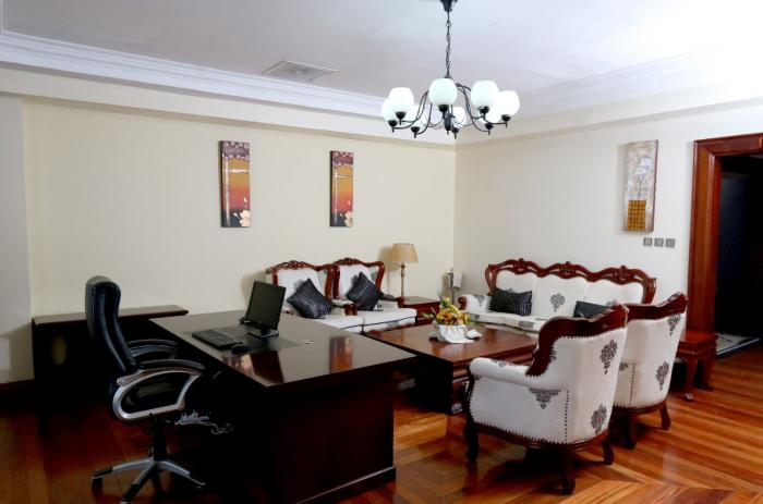 The presidential suite at Weston Hotel.