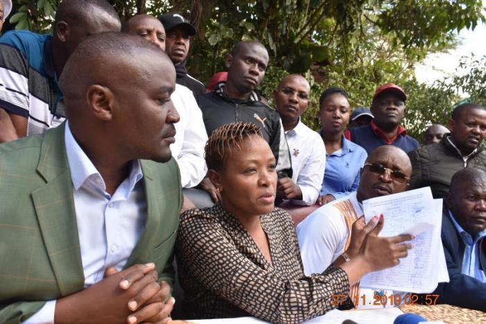 A section of Jubilee MCAs when they met on Monday, October 28 to discuss a new motion on the ouster of Speaker Beatrice Elachi.