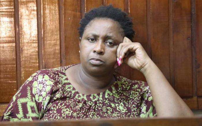 Malindi MP Aisha Jumwa who reportedly stormed an ODM meeting where a supporter was shot dead after a scuffle ensued on Tuesday, October 15, 2019. She was arrested on Wednesday morning, October 16, 2019