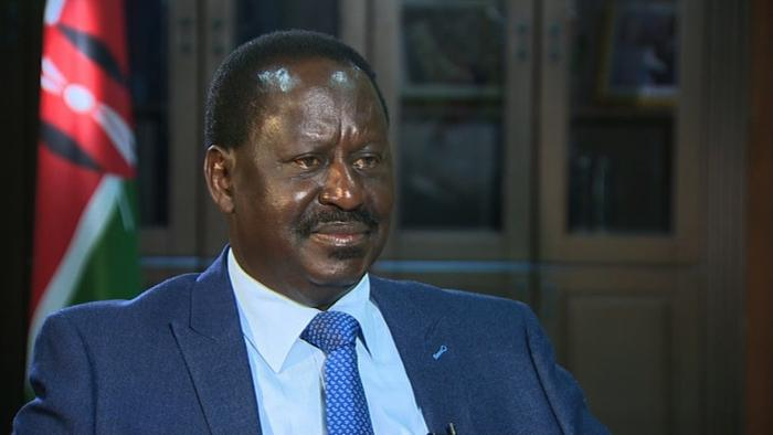 A photo of former prime Minister Raila Odinga.
