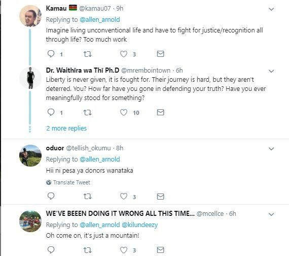 Reactions to a post on Saturday, December 14, that pinpointed LGBTQ hoisting their flag on Mt Kenya