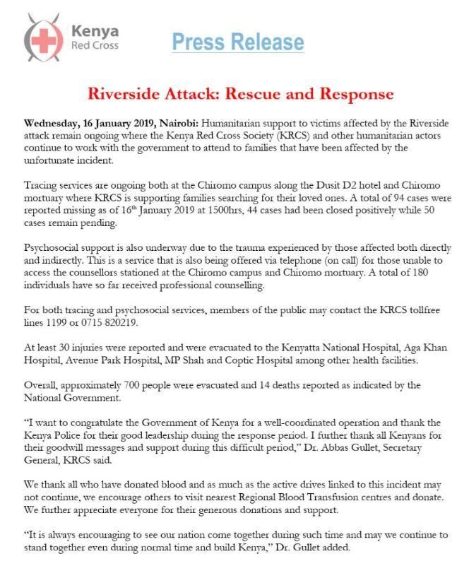 Riverside Attack: Red Cross Release Rescue & Response