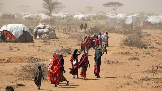 Refugees at Daadab camp in Northern Kenya. The camp is reported to host hundreds of thousands of refugees. Photo: Daily nation.
