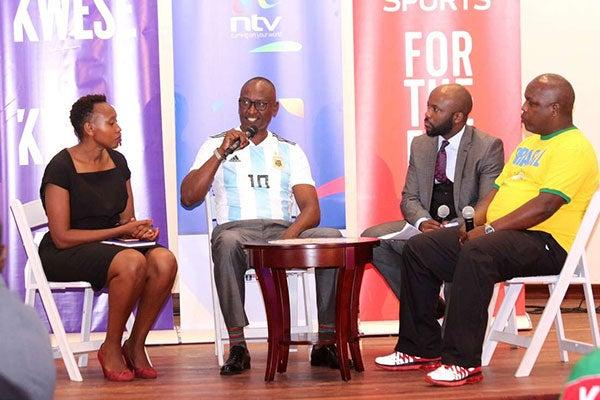 FROM LEFT: Former Kwese General Manager Monica Ndung'u along with Nation Media Group's Alex Kobia, Watson Karuma and Elias Makori in a panel discussion at an event in Nairobi on May 22, 2018
