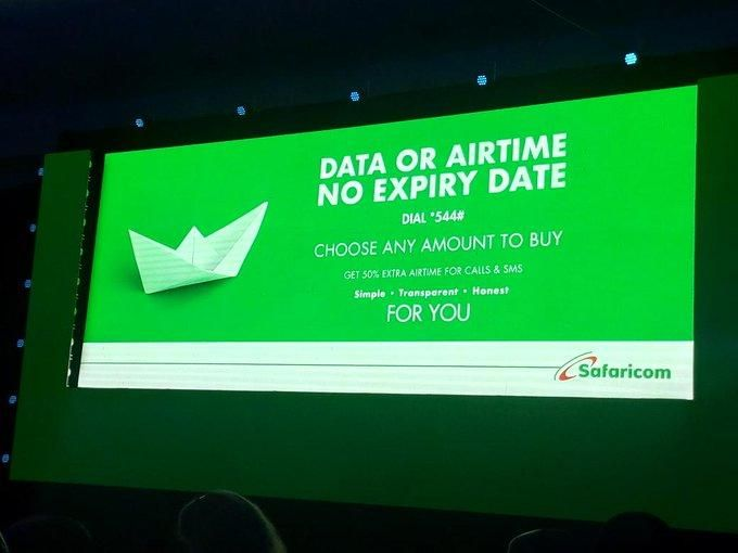 Safaricom announced their new strategy at the Sarit Centre on October 23, 2019, which included non-expiring data bundles