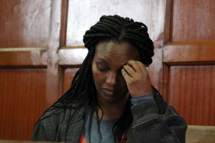 Sara Wairimu at the High Court in Nairobi. The presiding judge recommended that she undergoes a mental evaluation before standing trial.