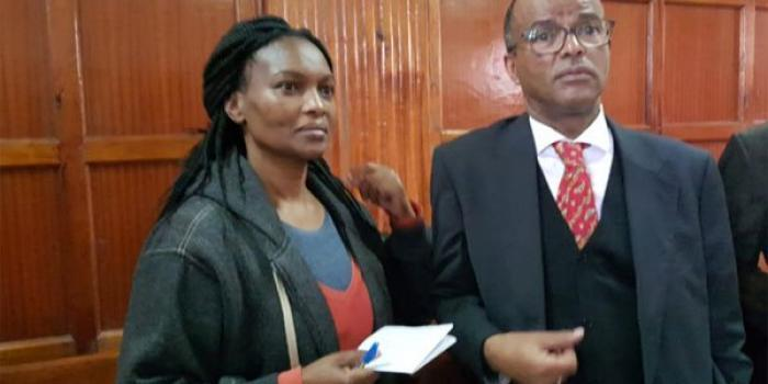 Sarah Wairimu (left) with her lawyer Philip Murgor on September 6, 2019. Wairimu claimed Cohen's will had been manipulated