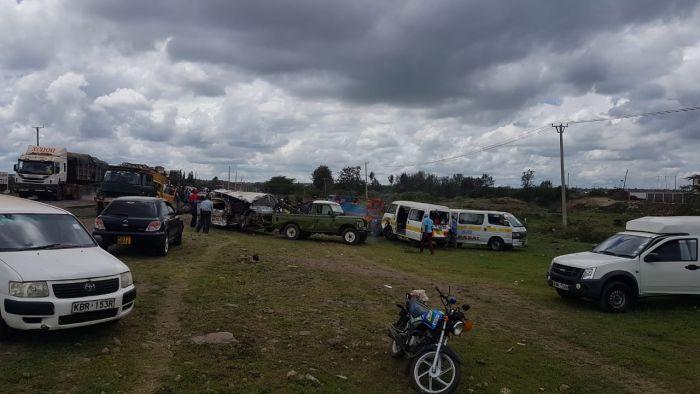 Multiple Car Crash Along Major Nairobi Highway Deaths