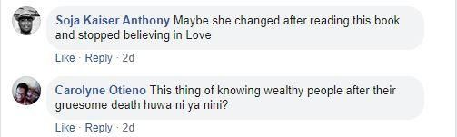 Snapshot of some of the messages posted on Ciku Muiruri's timeline