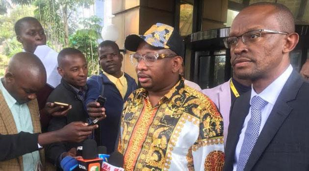 Sonko addressing journalists after recording statements at EACC on November 4