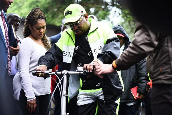 Mike Sonko during High Level Bicycle Riding
