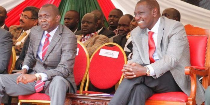 DP William Ruto and MP Oscar Sudi in a past function