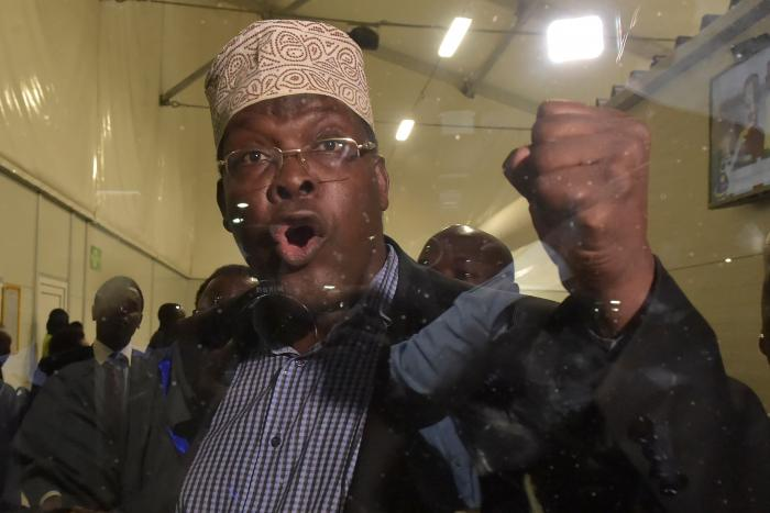 t Miguna Miguna at Jomo Kenyatta International Airport on March 26, 2018.