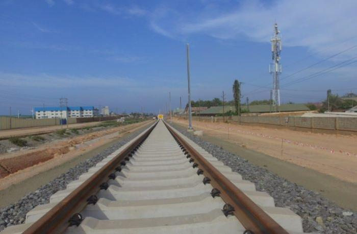 The SGR line running from Dar es Salaam to Morogoro in Tanzania