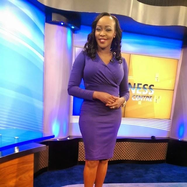 Terryanne Chebet during her time at Citizen TV. she was dismissed in 2017.