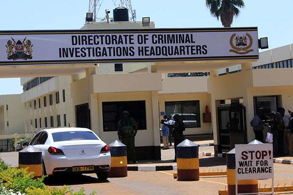 The headquarters of the Directorate of Criminal Investigations along Kiambu Road.