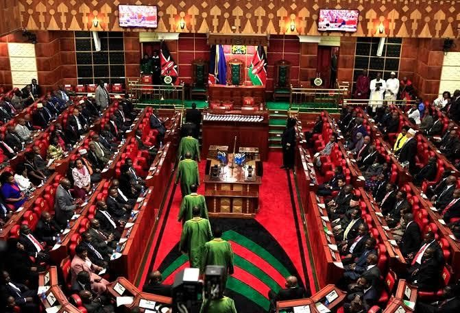 The Kenyan parliament during a session. A bill proposed  by Minority leader John Mbadi on July 3, 2019, is looking to have ex-MPs compensated for life